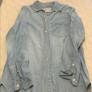 Madewell chambray button down shirt